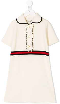 Gucci Kids Web Detail Knitted Dress