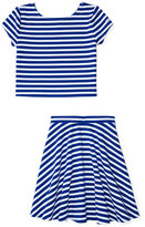 Ralph Lauren Striped Shirt & Skirt Set, Big Girls (7-16)