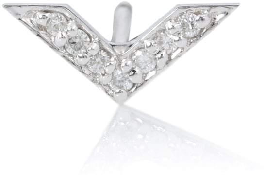 Sydney Evan Chevron 14kt white gold earring