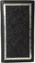 Ariat Steel Lacing Tooled Rodeo Wallet Wallet Handbags