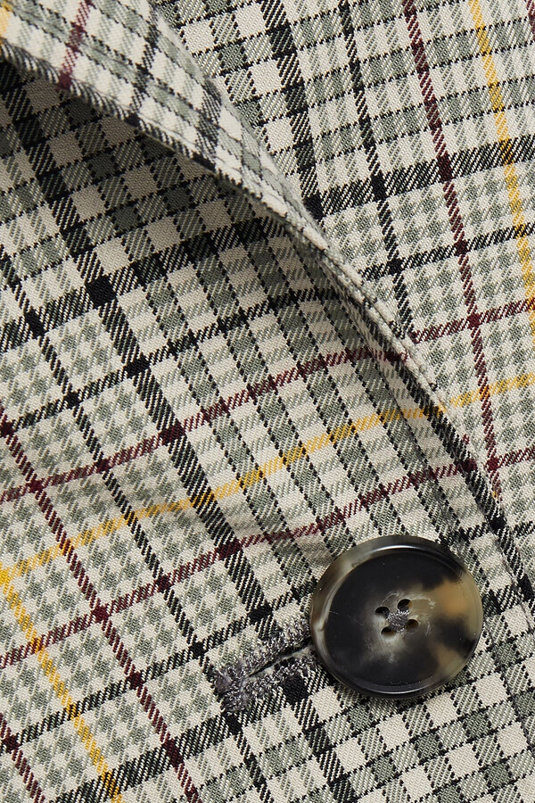 Thumbnail for your product : BA&SH Isor Prince Of Wales Checked Cotton Trench Coat