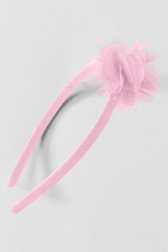 Lands' End Girls' Tulle Flower Headband