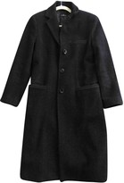 Alberto Biani Grey Wool Coat for Women