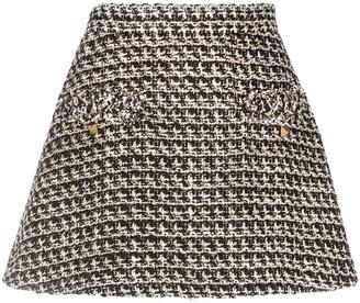 Valentino Sequin-Detail Tweed Skort