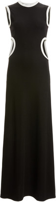 CHRISTOPHER ESBER Fran Two-Tone Cutout Stretch-Jersey Maxi Dress