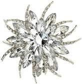 Bai You Mei Womens Brooch Pin With Fashion Jewelry Fancy Vintage Rhinestone Bling Crystal Bauhinia Flower