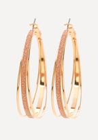 Bebe Glitter 3-Hoop Earrings