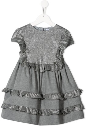 Simonetta Glitter Flared Princess Dress