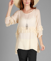 Lily Cream Ruffle Sidetail Tunic
