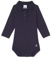 Petit Bateau Baby boys bodysuit with collar