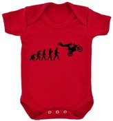 1StopShops Evolution of Freestyle Motocross Baby Bodysuit with Black Print