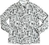 Dolce & Gabbana Instruments Printed Cotton Poplin Shirt