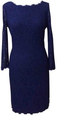 Diane von Furstenberg Blue Lace Dress for Women