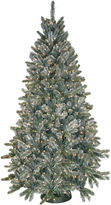 JCPenney General Foam Plastics 7.5' Pre-Lit Frosted Pine Christmas Tree