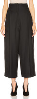 Lemaire High Waisted Tailored Pant in Black | FWRD