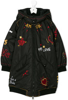 Dolce & Gabbana printed padded coat