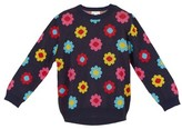 Margherita Infant Girl's Daisy Double-Knit Sweater