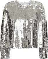 Ganni Sequined Georgette Top