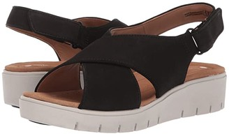 Clarks Un Karely Sun (Black Nubuck) Women's Sandals