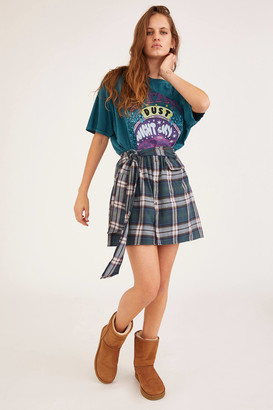 Urban Renewal Vintage Recycled Plaid Tie-Front Skirt