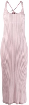 Pleats Please Issey Miyake plissé slip dress