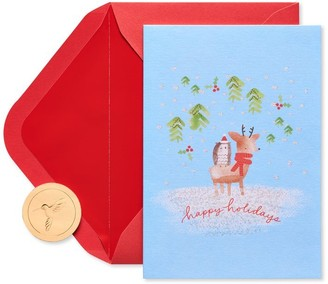 Papyrus Holiday Boxed Cards Deer and Owl