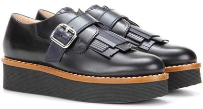 Tod's Gommino platform leather shoes