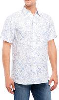 Mine Floral Short Sleeve Linen Shirt