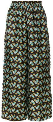 La DoubleJ Choco Galletti ruffle trousers
