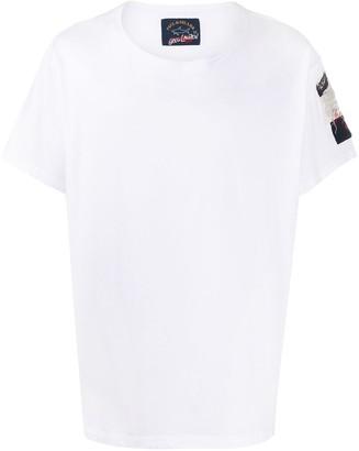 Greg Lauren X Paul & Shark logo embroidered T-shirt