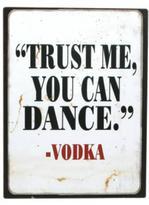 Bohemia Vodka Tin Sign