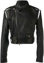 Y/Project Y / Project - cropped biker jacket - men - Horse Leather - XS