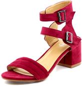 Refresh Wine Buckle Doria Ankle-Strap Sandal