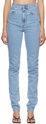 Helmut Lang Blue Femme Hi Spikes Jeans