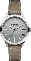 Bench Men's Quartz Watch with Grey Dial Analogue Display and Brown Plastic Strap BC0424SLBR