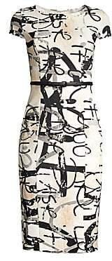 Max Mara Women's Alcali Printed Sheath Dress