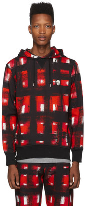 Alexander McQueen Black and Red Pullover Hoodie