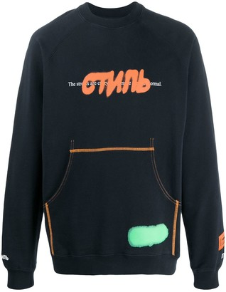 Heron Preston Logo Long-Sleeve Sweatshirt
