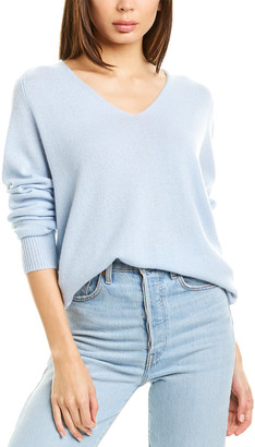 Vince Marled V-Neck Wool & Cashmere-Blend Top