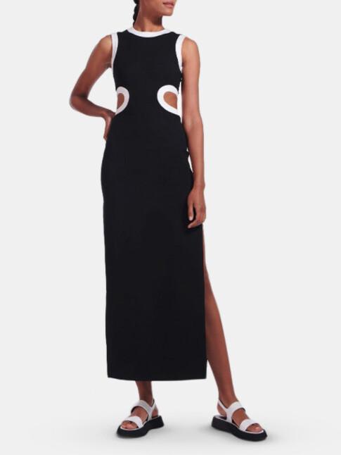 STAUD Dolce Contrast Maxi Dress