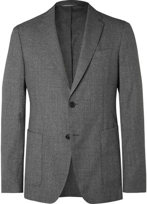 HUGO BOSS Grey Hooper Super 120s Wool Suit Jacket - Men - Gray