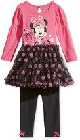 Nannette Baby Girls' 2-Pc. Minnie Mouse Tutu Tunic & Leggings Set