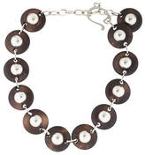 DSQUARED2 Wood Disc Necklace