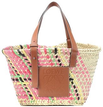 Loewe Exclusive to Mytheresa a leather-trimmed basket tote