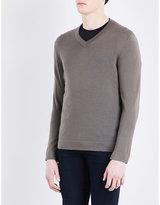 The Kooples V-neck Merino Wool Jumper