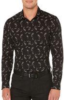 Perry Ellis Regular-Fit Paisley Shadow Print Shirt
