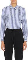 Balenciaga Women's Vertical-Striped Cotton Shirt