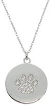 Diamonere Cubic Zirconia & Sterling Silver Pavé Paw Print Pendant Necklace