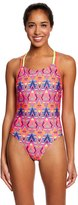 Speedo Missy Franklin Endurance Lite Diamond Geo Double Cross Back One Piece Swimsuit 8149872