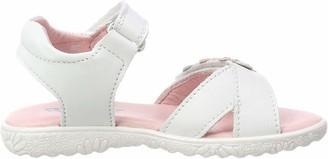 Richter Kinderschuhe Girls' Sole Ankle Strap Sandals (White/Silver 0101) 1 UK